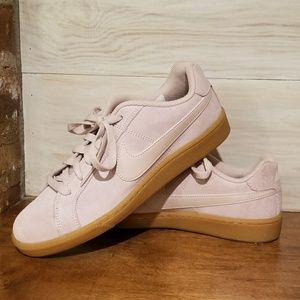 Light pink suede Nikes